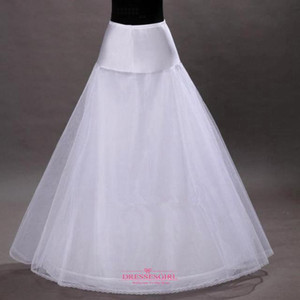 Ücretsiz Kargo Basit Beyaz Bir Çizgi Çember-olmadan Kabarık Etek Petticoat Fiş Gelinlik Için stokta CPA202 Fişek