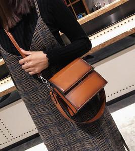Fashion Harajuku wind bag women's autumn and winter 2018 new atmospheric handbag simple shoulder strap shoulder Messenger bag