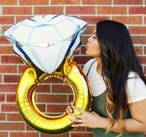 Гигантское бриллиантовое обручальное кольцо гелиевая фольга майларовый воздушный шар для свадебного предложения свадебный душ 32 и 43 дюймов c124