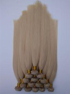 Бразильский Виргинский ткет волос 3 4 5шта много необработанного оптового индийского Remy Human Hair Straight 613 # Недорогих цены завода волос Extensions