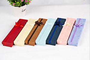 4 * 21 * 2cm Schmucksache-Halsketten-Armband-Uhr-Geschenk-Kasten-Kasten 24pcs / lot Farbe wahlweise freigestellt 12 ein Paket Einfarbige Verpackung versendet