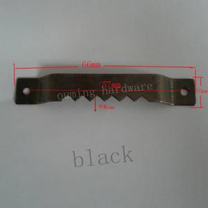 무료 배송 원활한 장식 검은 색 그림 톱니 옷걸이 하드웨어 액세서리 66 * 10mm