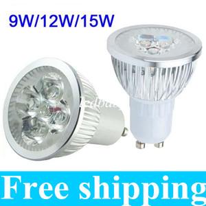 Высокая мощность CREE 9 Вт 12 Вт 15 Вт светодиодные прожекторы с затемнением GU10 MR16 E27 E14 B22 Светодиодные лампы потолочные светодиодные лампы