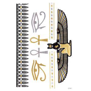 Временные татуировки наклейки металлические золотой фольги татуировки Флэш татуировки 10 шт золото серебро временные татуировки водонепроницаемый