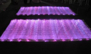 hightec 7 colors changeable light up fiber optic fabric 100*140cm to make clothes material color white