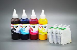 T2001 T2002 T2003 T2004 Kit de tinta de sublimação para Epson WF-2520 WF-2530 Impressora a jacto de tinta XP-400 XP-400 XP-200 (4 * 100ml + 4 recargas)
