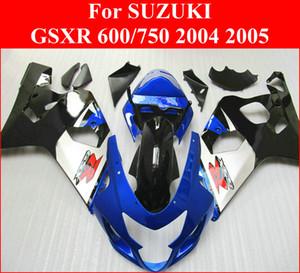 Применимость синий белые обтекатели для Suzuki GSXR600 GSXR750 K4 2004 2005 обтекателя комплект GSXR 600 750 04 05 TDWC