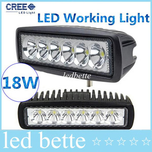 epacket LED Work Light Mini 6inch 18W UTV SUV ATV 4WD Bateau Camion Tracteur 4x4 accessoires off road 10-30V Spot Flood Beam