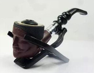 Creative cleaning human head type dual-purpose pipe with filter can be filled with tobacco and cigarette new arrivel