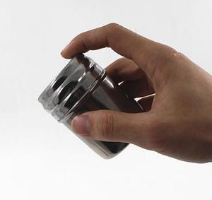 aço inoxidável New Spice Shaker Jar Açúcar Sal Pimenta Ervas Palito armazenamento de garrafa churrasco Bottle Spice Armazenamento