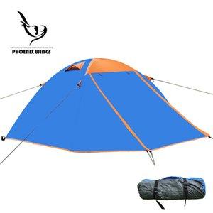 En gros-Automatique Coupe-Vent Imperméable À L'eau Double Couche Tente 3-4 Tentes Personne Ultra-Légère En Plein Air Randonnée Camping Tente Pique-Nique Tentes
