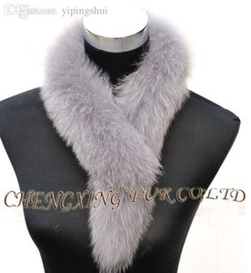 Wholesale-Epacket Free Shipping~CX-S-84C Genuine Fox Fur Fashion Scarf ~ WHOLESALE   RETAIL