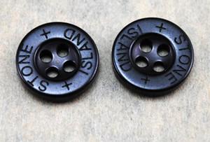 12,5 mm rond noir 4 trous Boutons Bouton couture Résine embellissements Scarpbooking Accessoires Accessoires de vêtement brodé chapitre