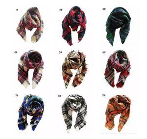 Unisex Brand Fashion Winter Scarf For Women Men General Children Plaid Cashmere Scarves Boys Girls Parents Scarf
