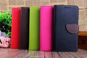 Folha de carteira virar pu leather case stand tpu capa com slots de cartão para lg g2 mini g3 mini g4 l70 l90 sem pacote