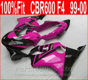 New fúcsia Personalizar preto carroçaria para Honda carenagens injeção 99 00 CBR kit carenagem 600 F4 CBR600 F4 1999 2000 OVXS