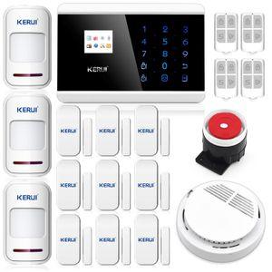 KERUI Wireless GSM SMS ANDROID IOS APP PSTN Hause Einbrecher Alarmanlage Detektor Sensor Anruf