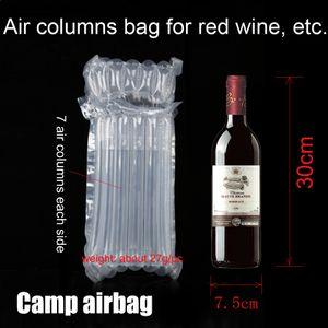 Insuflável Garrafa de Vinho (30cm) Air Dunnage Bag Air Cushion Coluna (3cm) envoltório Bolsas Tampão Bag proteger o produto mercadorias frágeis