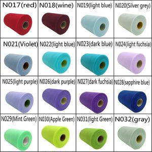 """Bobina di rotolo di tulle in tulle opaco di 44 colori 6 """"x100yd (6"""" x300 """") Arco di tulle di tutu per decorazioni natalizie"""