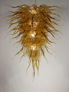 100% mundgeblasen CE UL Borosilikat Murano Glas Dale Chihuly Art Brilliancy Amber Glass Chandelier Kostenloser Versand