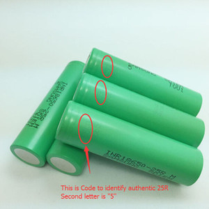 100% Authentic Samsung 25R 18650 Rechargeable Battery 2500mah 20A High Drain Discharge Lithium Batteries IN STOCK - NO TAX