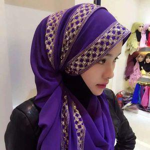 Donne musulmane Hijab Foulard Sciarpe Ragazza Estate Musulmano Foulard Patchwork Musulmano Sciarpe Femminili Foulard Spedizione Gratuita