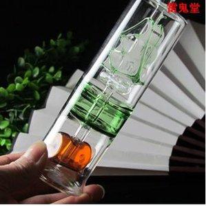 En 2 de nivel de capacidad de filtración de súper jarra alta el 18CM amplia vela es 5.CM pesada 130, estilo, entrega al azar de color, al por mayor pipa de agua de cristal, l