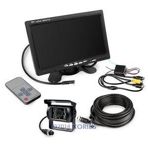 "12-24V سيارة عكس عدة 7 ""شاشة LCD TFT + CCD IR النسخ الاحتياطي كاميرا لشاحنة / شاحنة"