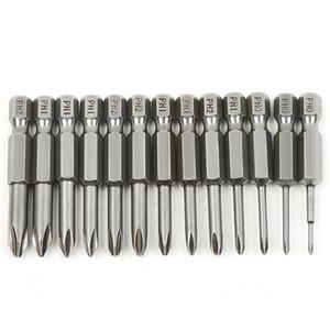 13 unids S2 Steel Cross Head Group 50mm Destornillador Magnético Set Bits Screw Driver Destornilladores Kit de Herramientas de Mano