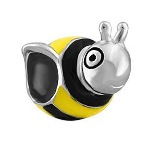 Большое отверстие бусины симпатичные желтые пчелы животных повезло Европейский spacer шарик металла Шарм девушки браслеты Пандора Chamilia совместимы