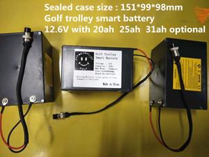 12 V 25AH 300 W bateria de lítio para o trole de golfe bateria operado poder na China com estoque da UE EUA AU navio livre sem impostos
