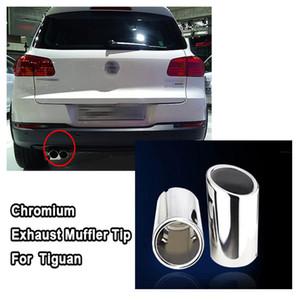 Nuovo Chrome 2pcs SCARICO punta del silenziatore / lotto Per Volkswagen VW per Tiguan 2009 2010 2011 2012 2013
