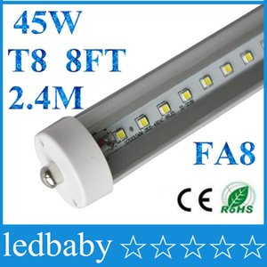 8 피트 led 8ft 단일 핀 t8 FA8 단일 핀 LED 튜브 조명 45W 4800Lm 전구 2400MM 8feet LED 형광등 램프 85-265V
