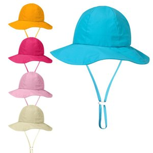 Protection UV chapeaux de soleil Respirant bébé enfants Garçon Fille unisexe Bucket Chapeaux d'été capeline Chapeau de soleil Caps Cap UPF50 + Crème solaire