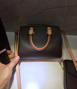Бесплатная доставка! Холст натуральная кожа Lady Messenger Сумка Телефон Кошелек Мода Satchle Nano Сумка Сумка 61252
