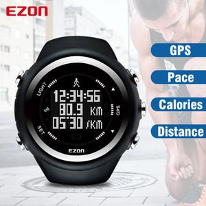 Ezon T031 Gps 실행 스포츠 시계 거리 속도 칼로리 모니터 Gps 타이밍 남자 스포츠 시계 50m 방수 디지털 시계 Y19052301