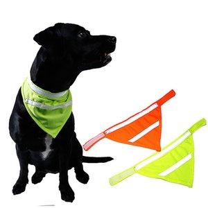 Reflectante perro gato mascota bufanda de cuello del lazo de seguridad Vendaje triangular Senderismo Caminar Pañuelo de cuello collar para mascotas Pequeño Mediano Grande