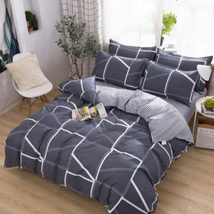 Comforter King Bed Sets Designer Thickened AB Version Printed Twill Brushed Cotton Quilt Sheet Pillowcase Bedroom Summer Bedding Sets 2020
