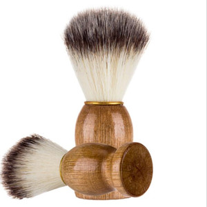 Man Shaving Beard Brush Wood handle Face Beard Cleaning Men Shaving Razor Brush Cleaning tool KKA6829