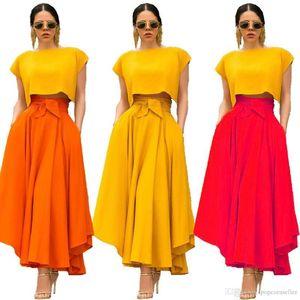 Dress Fashion Ribbon Solid Color Asymmetrical Elegant Dresses Casual Holiday Style Women Dress Summer Womens Designer