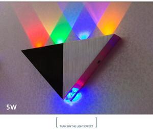 llight مصباح جديد 5W المثلث LED مصابيح الجدار الشمعدانات مرآة الخلفية الديكور أضواء LED الممر ضوء مصباح خلفية غرفة شريط KTV أدى