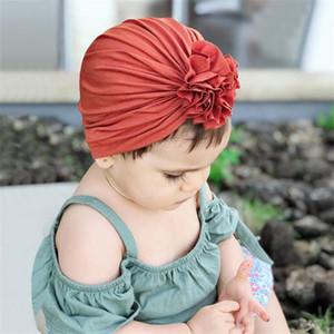 16 Cores Crianças Chapéu Plissado Chapéu Headband Newborn Bebê Algodão Indiano Headgear Headbands Livre Navio 50