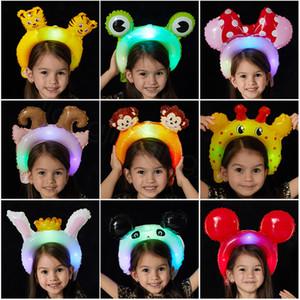 ballons cartoni animati Led Animali Luci colorate della testa del cerchio Balloon Luminescence Fascia per capelli Balloons modo della fascia popolare del partito puntelli FFA3545-4
