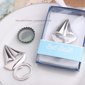 50 adet Gümüş Yelkenli Yelkenli Tekne Şişe Açacağı Açacakları Metal Bira İçecek Aksesuar Yelkenli Düğün Doğum Günü Partisi için hediye favor