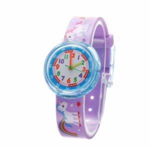 4 estilos nuevos niños lista Ver linda del dinosaurio del reloj del potro del unicornio de dibujos animados niños relojes Seguir niño estudiante del reloj de los muchachos de