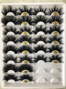 14 stili 5D 25 millimetri ciglia finte un paio di spessi ciglia esagerate capelli reale del visone 25 millimetri 30 serie di trasporto libero
