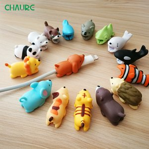 USB Cable bites Protector Animal Cute Cartoon Cover Protect Case for Iphone cable Earphone cable buddies Cellphone Decor Wire