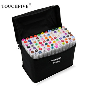 TouchFive 30 40 60 80 Colors Markers Set Dual Headed Sketch Markers Oily Alcohol Based Ink Professional Art Supplies for Drawing