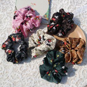 rato cor de luxo Headband coreano banda cabelo simples senhoras elástico verificação corda cabeça faixa de cabelo pacote intestino grosso atacado anel
