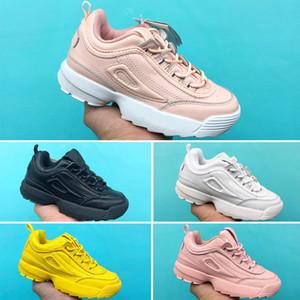 FILA Bebê menina meninos Respirável Basquetebol Sneaker Designer sapatos Wudao Athletic Sports Calçados Casuais Spring Running Calçados infantis